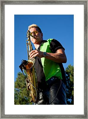 Cliff Miller Of The Fabulous Kingpins Framed Print by David Patterson