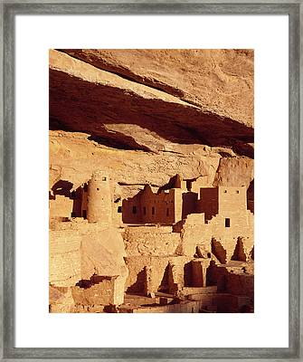 Cliff Palace Ruin In Mesa Verde Framed Print