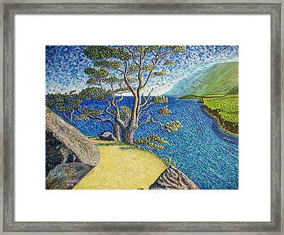 Cliff Framed Print by Viktor Lazarev