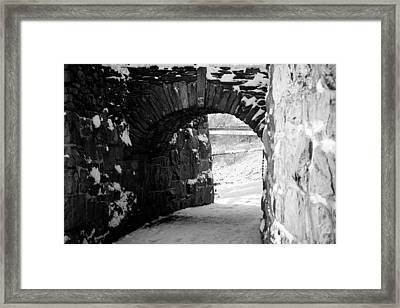 Cliff Walk Arch  Framed Print by Allan Millora