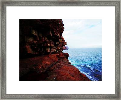 Cliff Framed Print