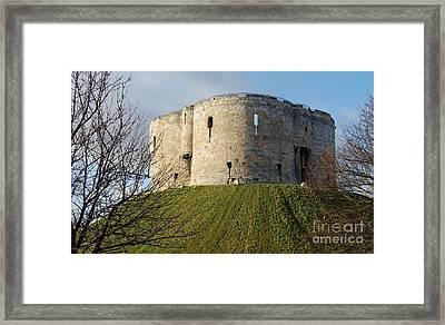Clifford's Tower, York, England Framed Print by Courtney Dagan