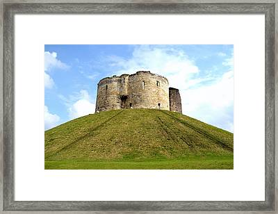 Framed Print featuring the photograph Clifford's Tower York by Scott Lyons