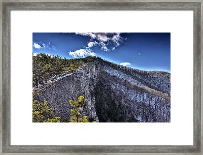 Cliffs Along North Fork Mountain Trail - West Virginia Framed Print by Brendan Reals