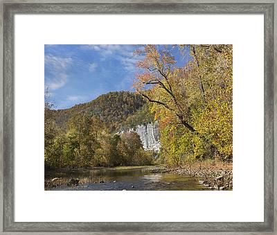 Cliffs And River Roark Bluff Buffalo Framed Print by Tim Fitzharris