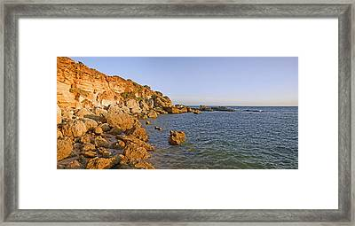 Cliffs At Coast, Conil De La Frontera Framed Print by Panoramic Images