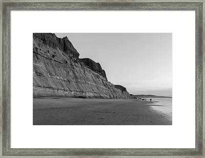 Framed Print featuring the photograph Cliffs At Torrey Pines Beach by Scott Rackers