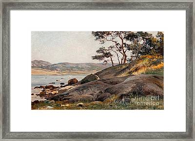 Cliffs By The Shore Framed Print