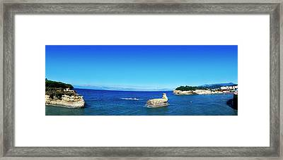 Cliffs In Ionian Sea, Corfu, Ionian Framed Print by Panoramic Images