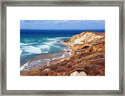 Cliffs Of Aquinnah Framed Print by David Champigny