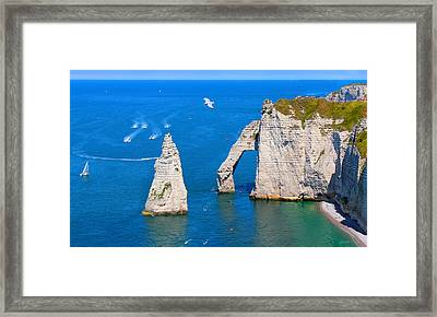 Cliffs Of Etretat France Framed Print