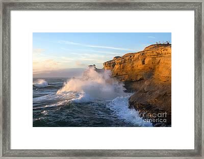 Cliffs Of Kiwanda Framed Print by Mike Dawson