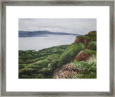 Cliffs Of Magho Framed Print
