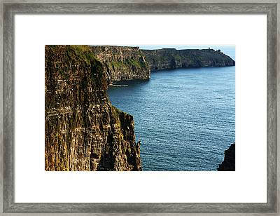 Cliffs Of Moher Clare Ireland Framed Print by Aidan Moran