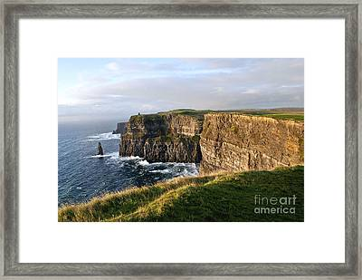 Cliffs Of Moher Evening Light Framed Print