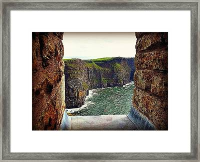 Cliffs Of Moher From O'brien's Tower Framed Print by Tara Potts