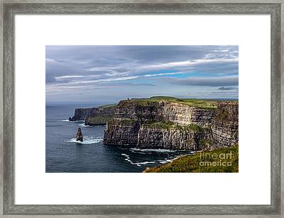Framed Print featuring the photograph Cliffs Of Moher I by Juergen Klust