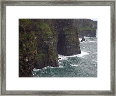 Framed Print featuring the photograph Cliffs Of Moher Ireland by Alan Lakin