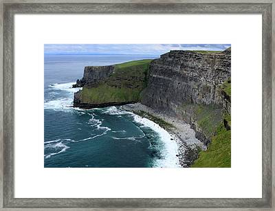 Cliffs Of Moher View Framed Print by Aidan Moran