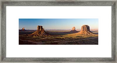 Cliffs On A Landscape, Monument Valley Framed Print by Panoramic Images