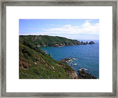 Cliffs On Isle Of Guernsey Framed Print