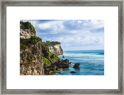 Cliffs On The Indonesian Coastline Framed Print