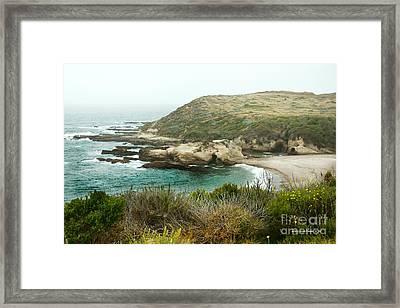 Cliffs Over Montana De Oro California Framed Print by Artist and Photographer Laura Wrede