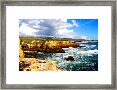 Cliffs Framed Print by Shannan Peters
