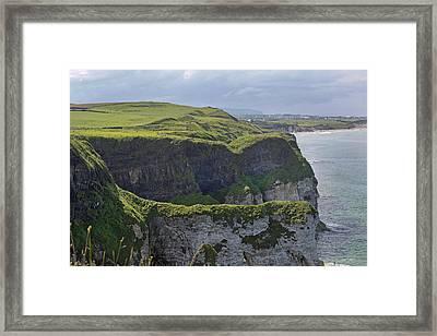 Cliffside Antrim Ireland Framed Print by Betsy Knapp