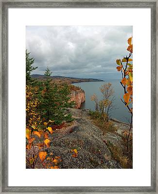 Cliffside Fall Splendor Framed Print