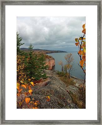 Cliffside Fall Splendor Framed Print by James Peterson