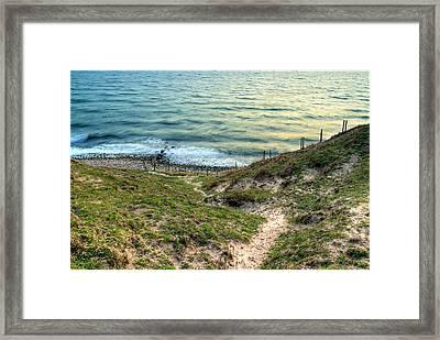 Cliffside Path Framed Print