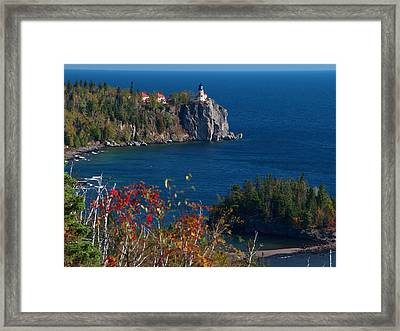 Cliffside Scenic Vista Framed Print by James Peterson