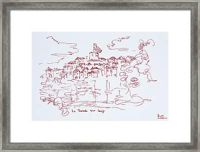 Clifftop Village Of Tourettes Sur Loup Framed Print