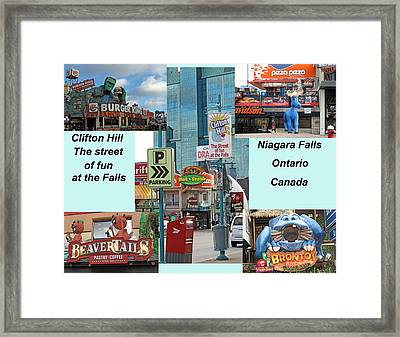 Clifton Hill Montage Framed Print