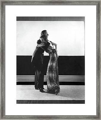 Clifton Webb And Irene Castle Dancing Framed Print