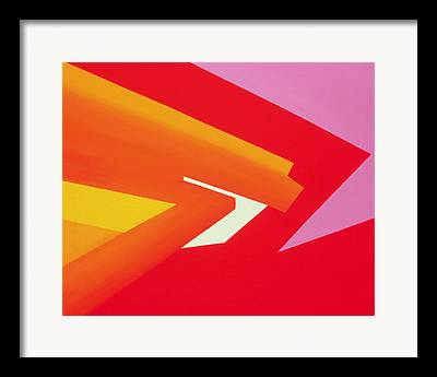 Geometric Effect Paintings Framed Prints