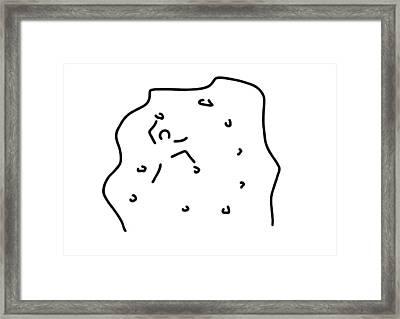 Climb Climbing Hall Boulder Framed Print by Lineamentum