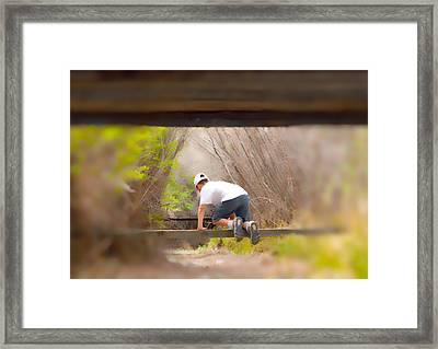 Climb On Over Framed Print