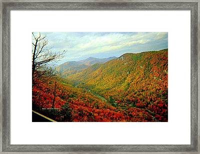 Climb Though Mountains Framed Print