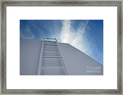 Framed Print featuring the photograph Climb Up by Lena Wilhite