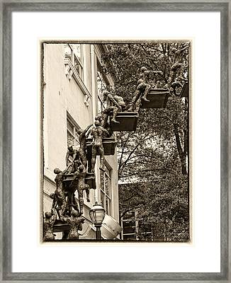 Climb With Care And Confidence Framed Print