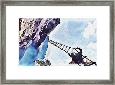 Climb Framed Print by Withintensity  Touch