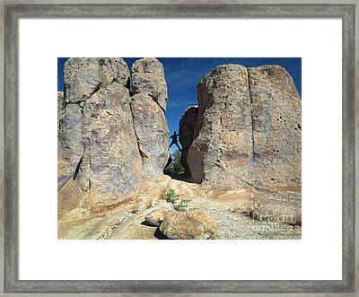 Framed Print featuring the photograph Climber City Of Rocks by Martin Konopacki