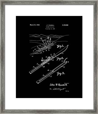 Climber For Skis 1939 Russell Patent Art Framed Print by Lesa Fine