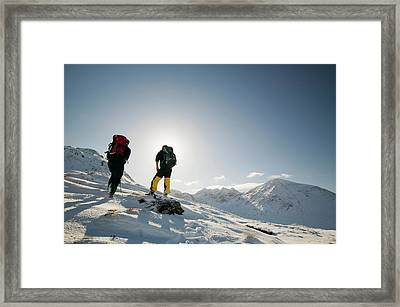 Climber On Bruach Na Frithe Framed Print by Ashley Cooper