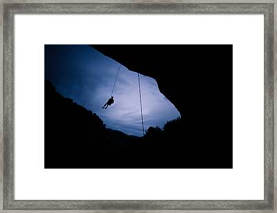 Climber Silhouette 2 Framed Print by Chase Taylor