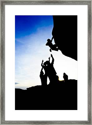 Climber Silhouette 3 Framed Print by Chase Taylor