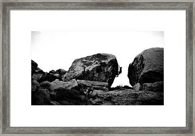 Climber Silhouette 4 Framed Print by Chase Taylor