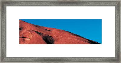 Climbers Ayers Rock Uluru Park Australia Framed Print by Panoramic Images